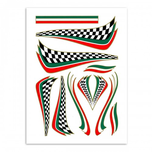 Stickerset Italiaanse finishvlag